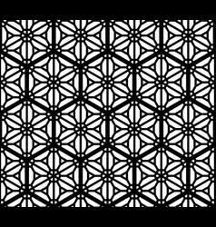 Seamless geometric ornament based kumiko vector