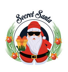 Secret santa cartoon vector
