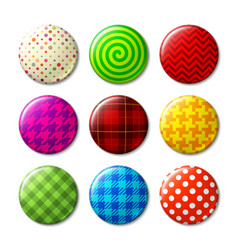 set badges with different patterns vector image