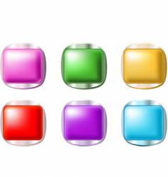 smooth shiny buttons vector image