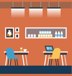 Space reservation and coworking cartoon flat vector