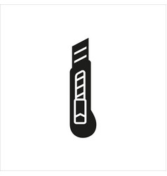 stationery knife icon on white background vector image
