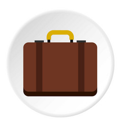 Suitcase icon circle vector