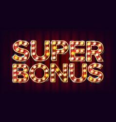 super bonus banner casino vintage golden vector image