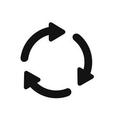 three circling arrows icon vector image