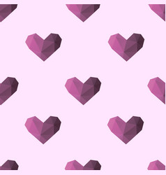 triangle heart seamless pattern backgrounds vector image