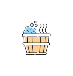 tub spa fill style icon vector image