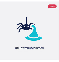 two color halloween decoration icon from vector image