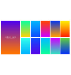 Vibrant abstract colorful gradient background vector