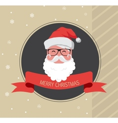 vintage card of hipster santa claus happy new year vector image vector image
