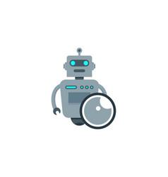 vision robot logo icon design vector image