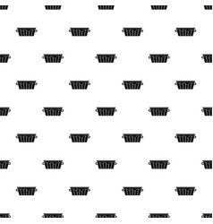 Wooden tub pattern vector