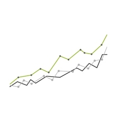 arrow growth graphic icon vector image
