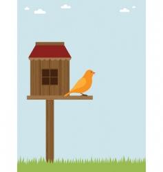 bird house vector image vector image