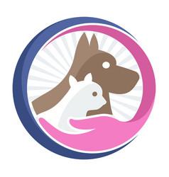 business logo icon for pet shop pet care vector image