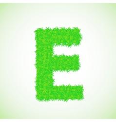 grass letter E vector image vector image