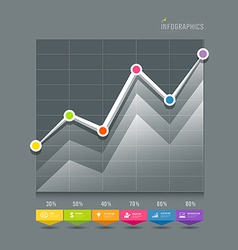 Modern Graphs info-graphic and icons vector image