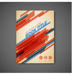 retro abstract brochure design template vector image vector image
