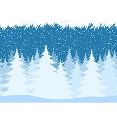 Seamless Christmas Forest Landscape vector image