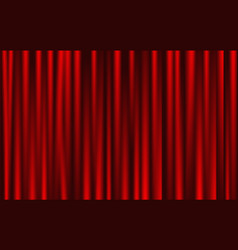 Theatrical background red drape curtains vector