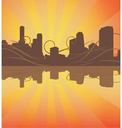 urban silhouette vector image vector image