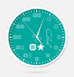 wall clocks modern dial plate clock vector image
