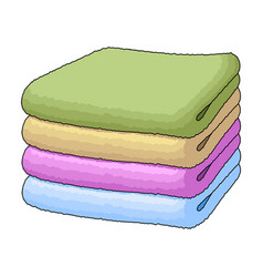 a stack of clean linensuhaya cleaning single icon vector image