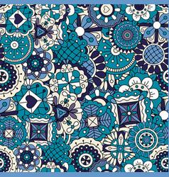 blue doodle pattern vector image vector image