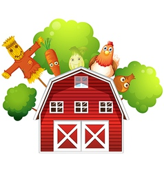Farm Barn Produce vector image vector image