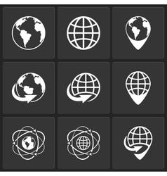 globe earth world icons vector image vector image