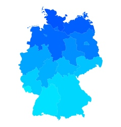 Map of Germany vector image vector image
