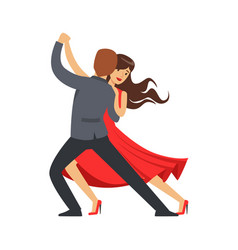 professional dancer couple dancing latino colorful vector image vector image