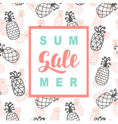 summer sale promotional banner template vector image
