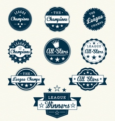 Vintage Sports Labels vector image vector image