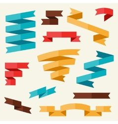 Banners and ribbons in flat design style vector image vector image