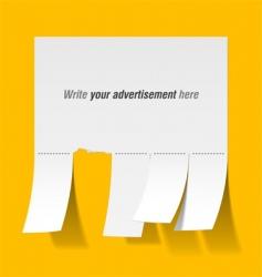 blank advertisement vector image vector image