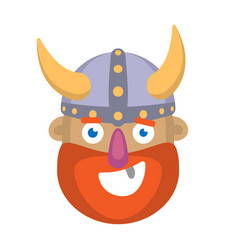 cartoon head of a viking vector image vector image