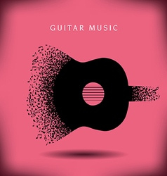 Music Guitar background vector image vector image