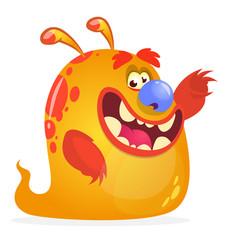 orange monster cartoon vector image