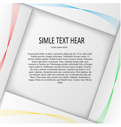 paper design with text vector image