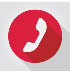 Phone icon red flat design vector image