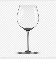 realistic empty wine glass icon isolated on vector image vector image