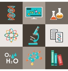 Science set Infographic vector image vector image