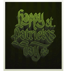 happy st patricks day vector image vector image
