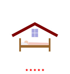 man in bed hotel it is icon vector image vector image