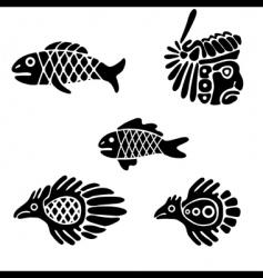 Mexican design elements vector