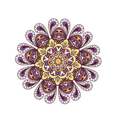 Abstract design elements round mandalas in vector