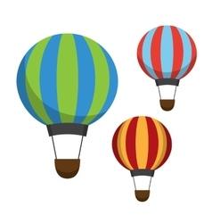 Air balloon icons vector image