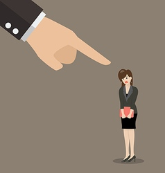 Angry boss being complaining to woman employee vector