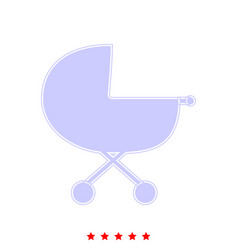 Baby carriage it is icon vector